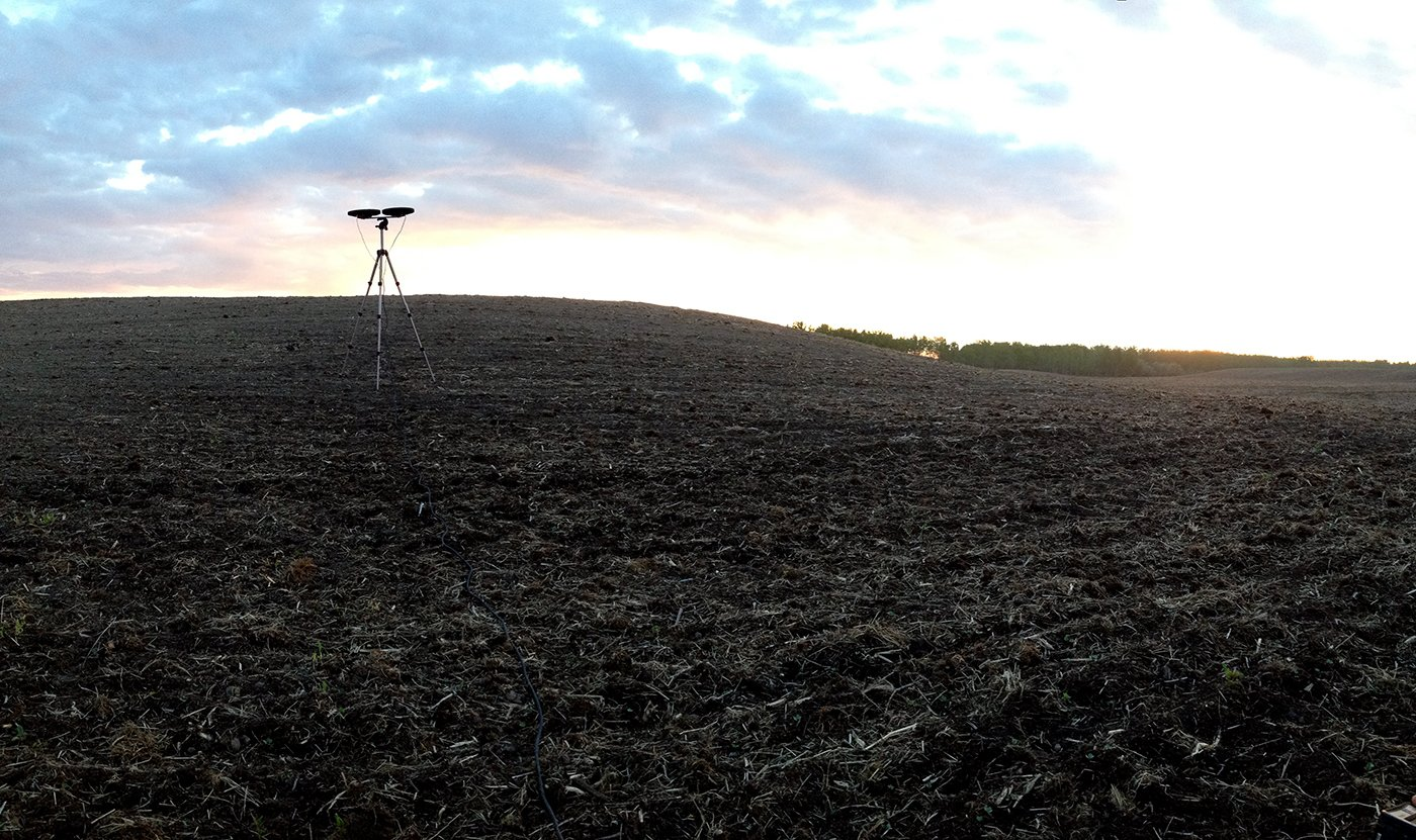 Bird recorder in field