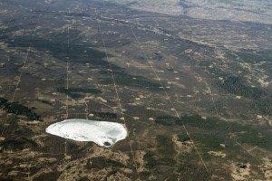 Seismic lines in northeastern Alberta.