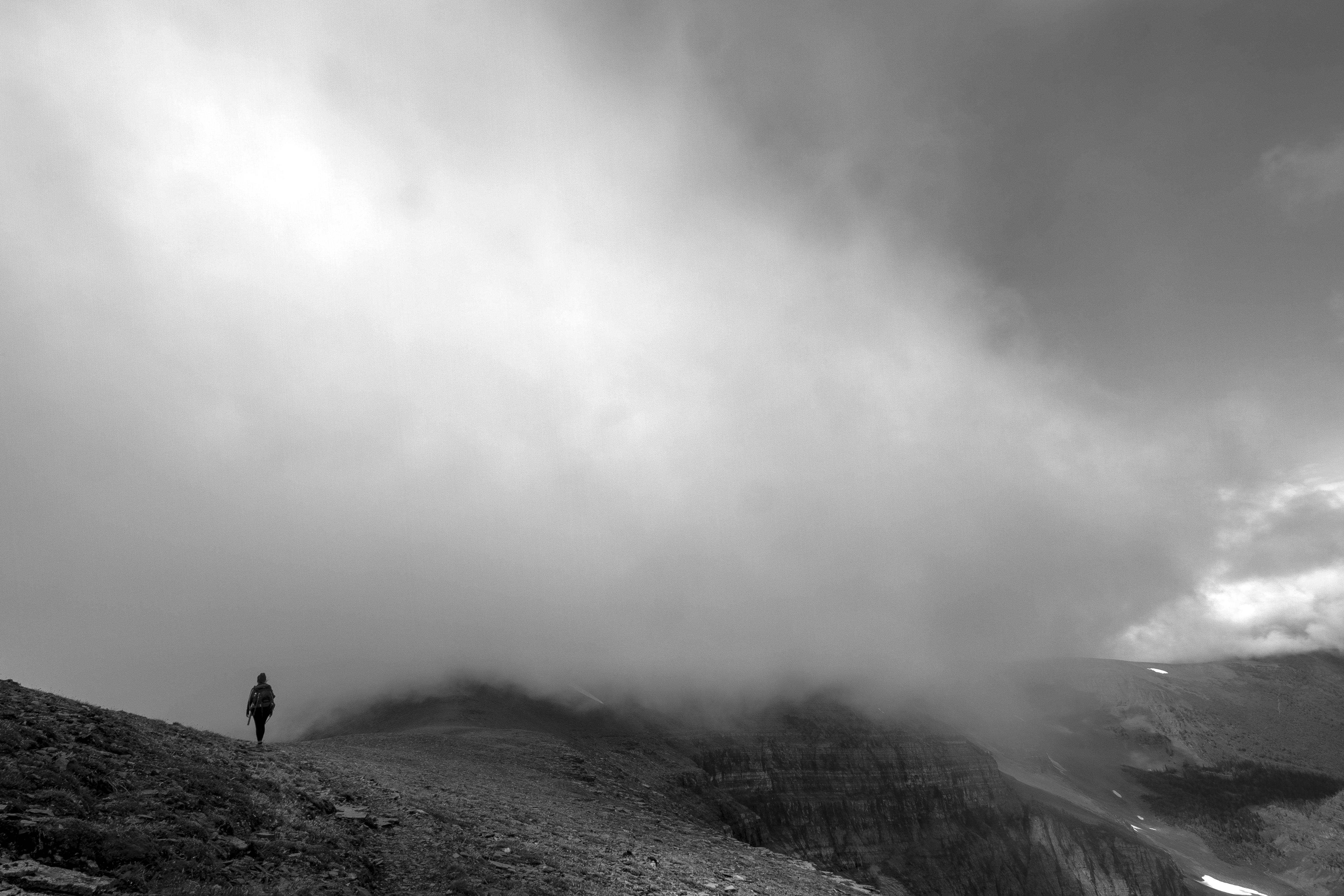 fog on the ridge
