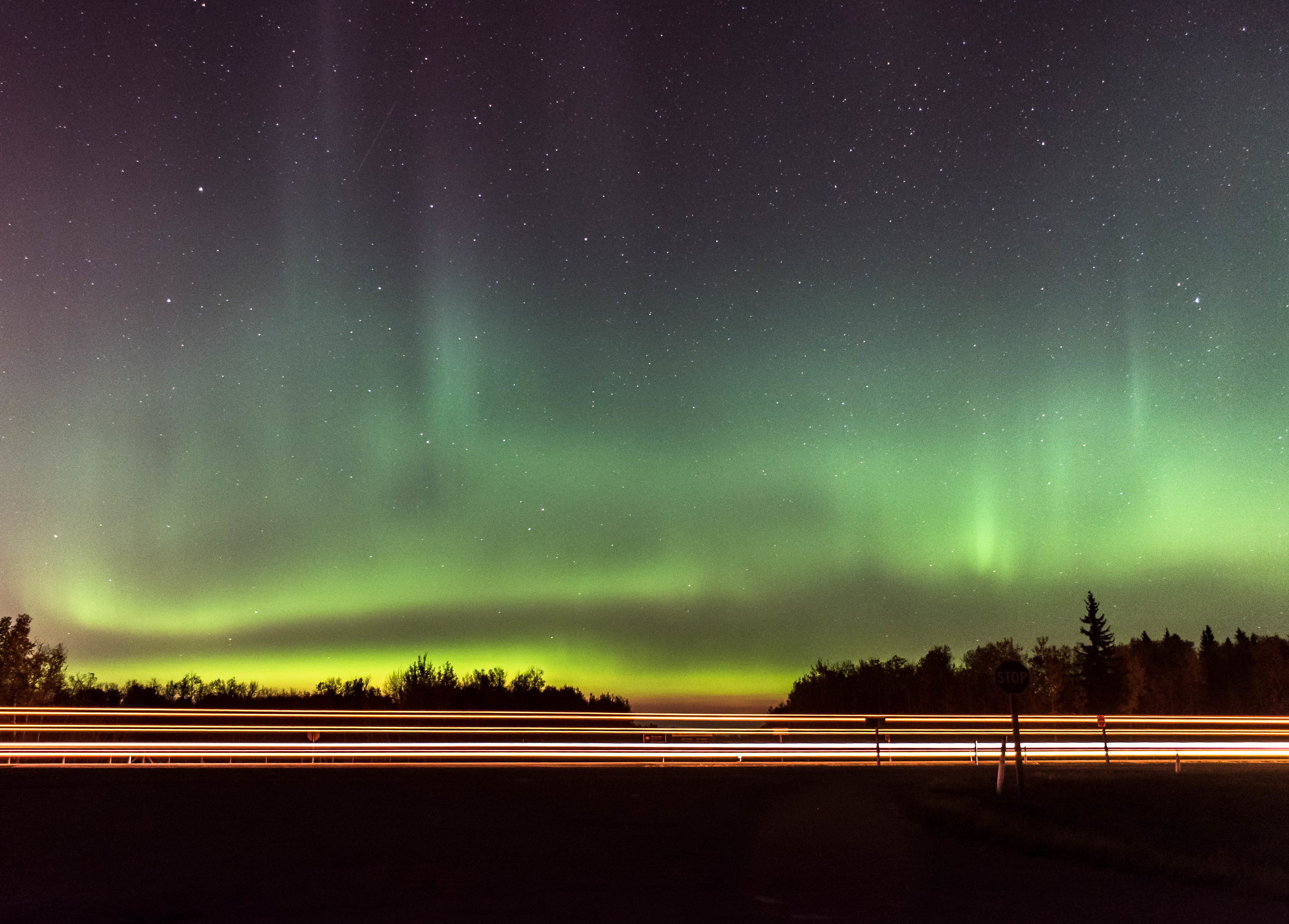 aurora by the highway